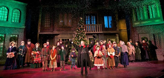 "Thomas D. Mahard returns for a 33rd year as Ebenezer Scrooge in Meadow Brook Theatre's staging of ""A Christmas Carol."""