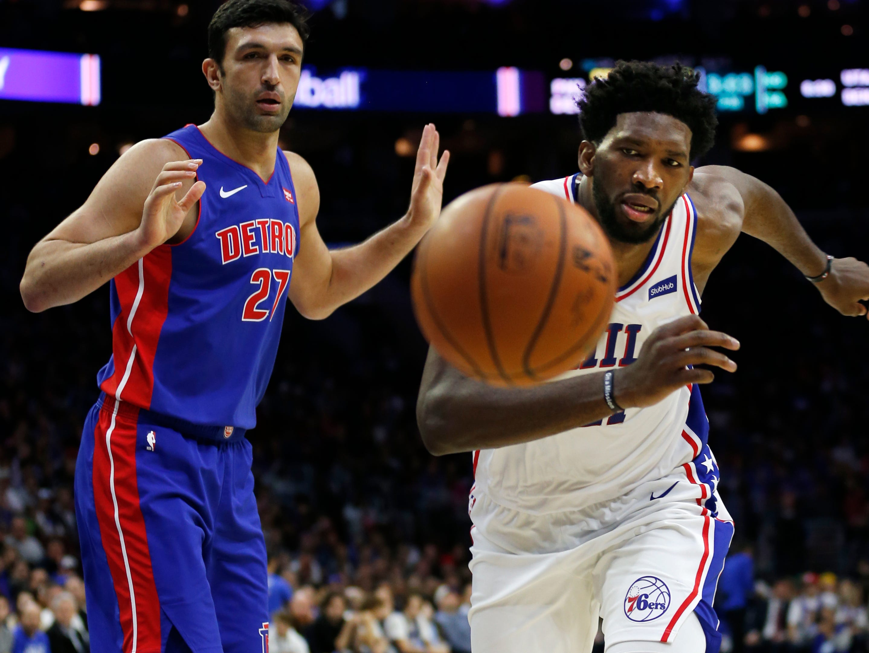 Philadelphia 76ers 109, Detroit Pistons 99: Photos from Philly