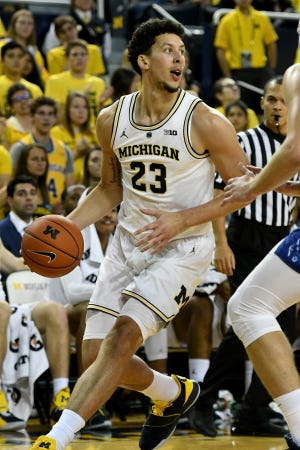 Michigan's Brandon Johns could start seeing more minutes.