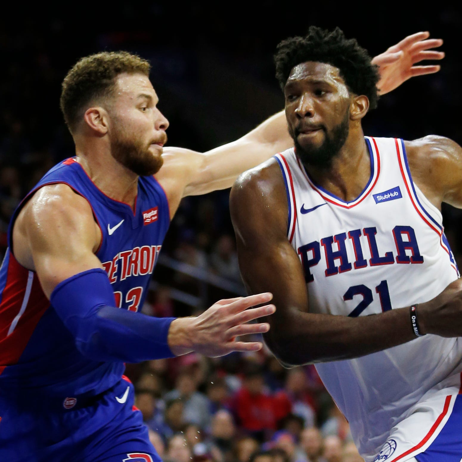 Joel Embiid dominates as 76ers stave off Pistons