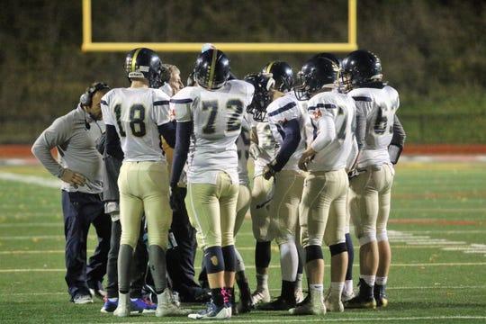 Elmira Notre Dame was a 38-20 winner over Lansing in the Section 4 eight-man football championship game Nov. 2, 2018 at Binghamton Alumni Stadium.
