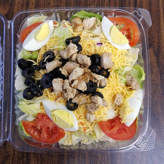 A chicken deluxe combination salad from Emge's Deli and Ice Cream in Evansville.