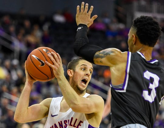 Evansville guard Shea Feehan started and played 32 minutes in the Aces' exhibition Saturday.