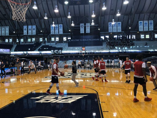 Southern Indiana played an exhibition against Butler on Saturday at Hinkle Fieldhouse.