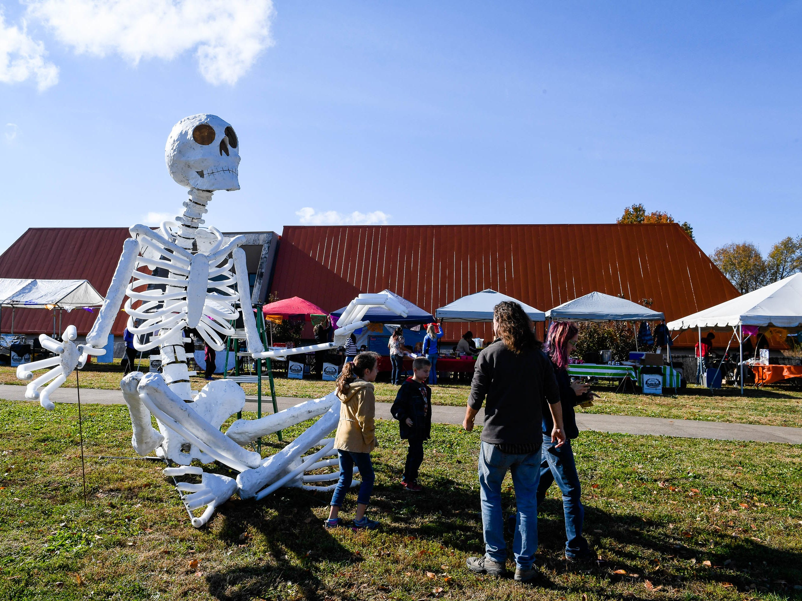 People attending the Day of the Dead held at Evansville's Angel Mounds State Historic Site Saturday, November 3, 2108.