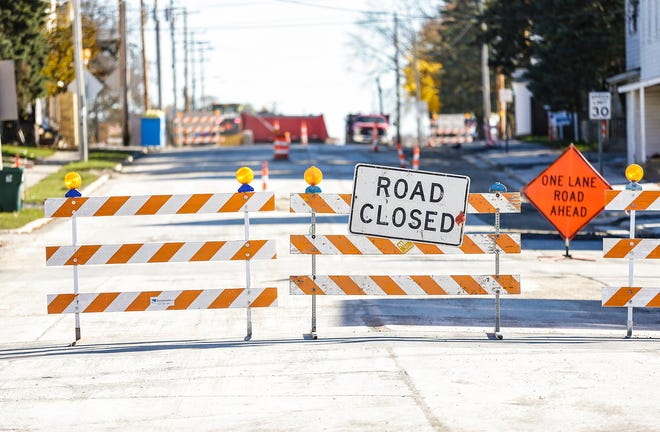 Main Street is closed at Fond du Lac Avenue in the village of Eden. US 45 near the village to US 151 in Fond du Lac has been closed to traffic for months due to road construction. Doug Raflik/USA TODAY NETWORK-Wisconsin