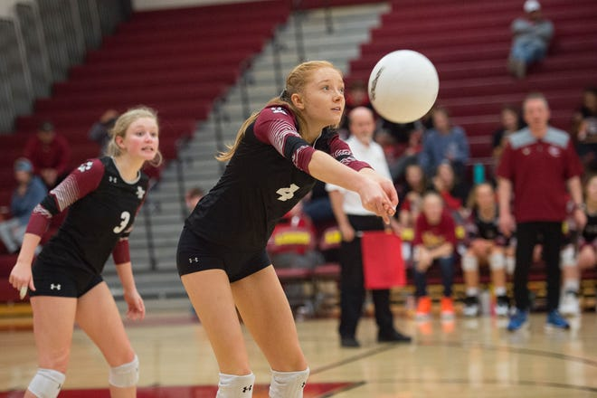 The high school volleyball tournament continues Friday at the Denver Coliseum.
