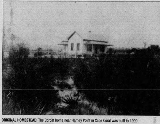 The Corbitt home, built in 1909, was one of the first in what would eventually become Cape Coral.