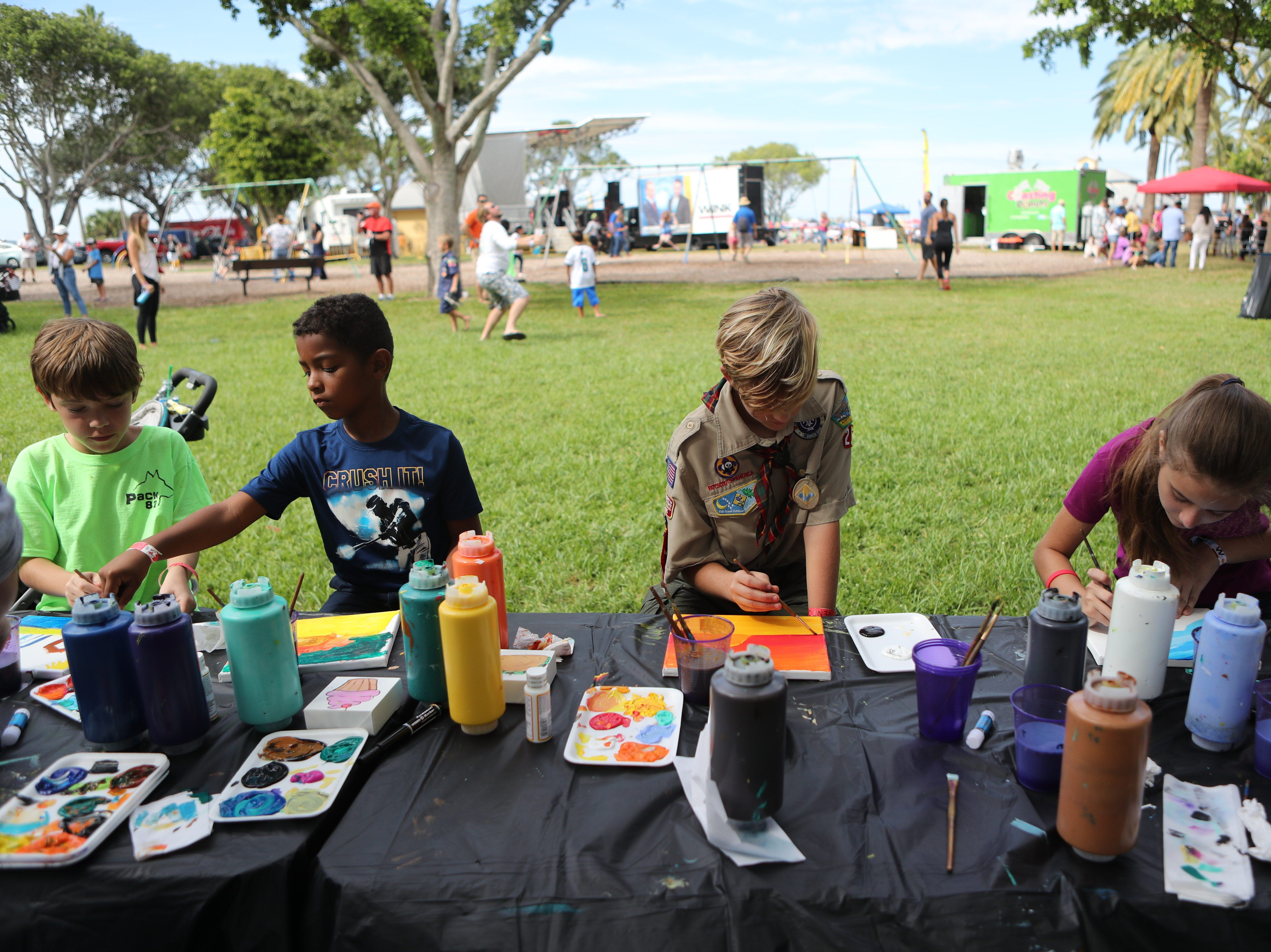 Thousands of people came out to sample food from several local restaurants and food trucks and listen to live music at the Taste of Lee at Centennial Park in downtown Fort Myers on Saturday, November 3, 2018.