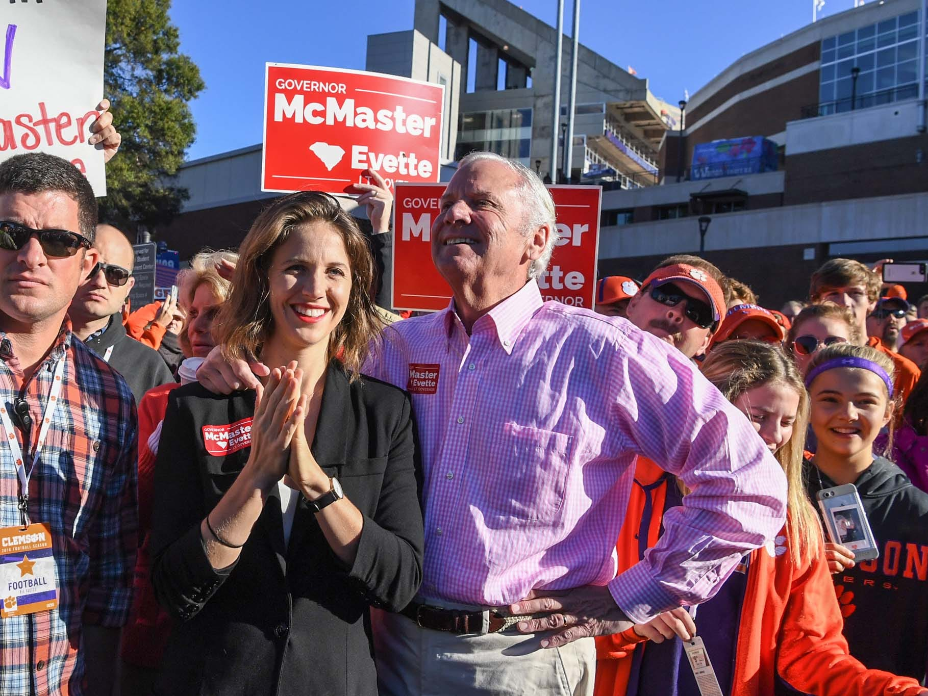 South Carolina Gov. Henry McMaster during Tiger Walk before the game in Memorial Stadium on Saturday, November 3, 2018.