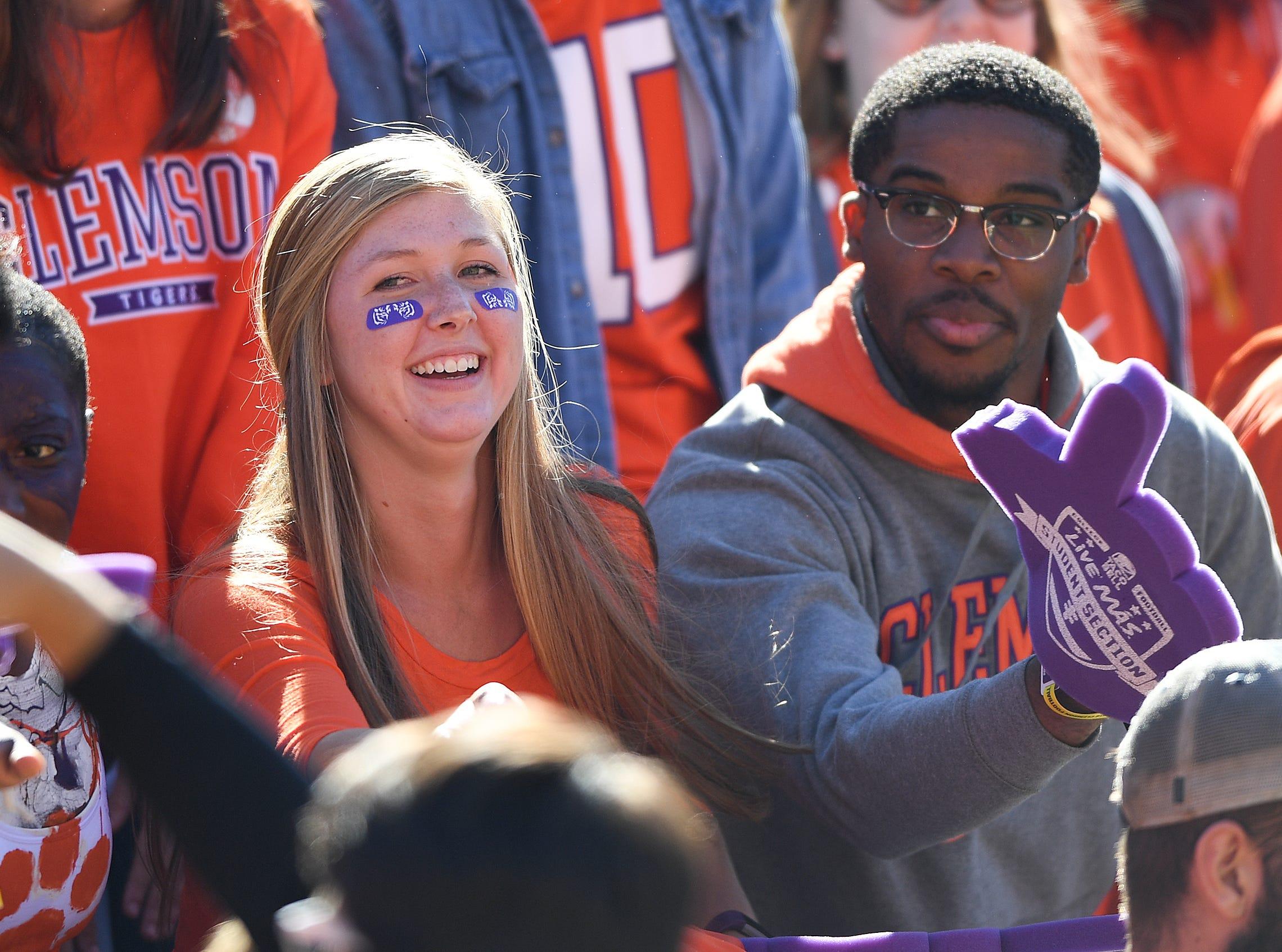 Clemson fans during the 3rd quarter Saturday, November 3, 2018 at Clemson's Memorial Stadium.