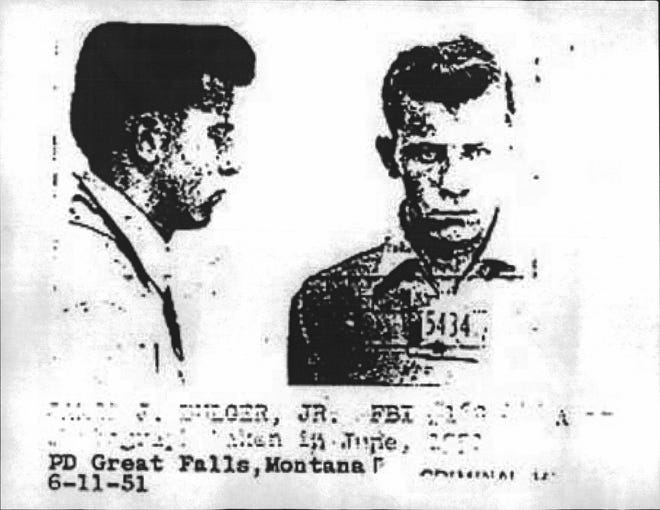 "James ""Whitey"" Bulger was arrested several times in Great Falls in 1951."