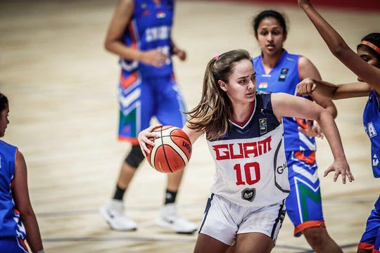 Mia San Nicolas, No. 10, averaged a double-double through four games in a recent FIBA U18 Women's Asia Championship Tournament in India. She was selected once again as the IIAAG High School Girls Basketball MVP in her senior year.