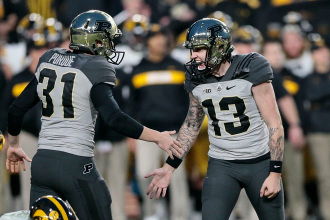Purdue kicker Spencer Evans drove in the finishing blow to the Hawkeyes on Saturday, a 25-yard field goal with 8 seconds left in a 38-36 win.