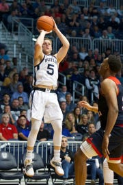 Paul Jorgensen's hot shooting led the Bulldogs over Southern Indiana in Saturday's exhibition action.