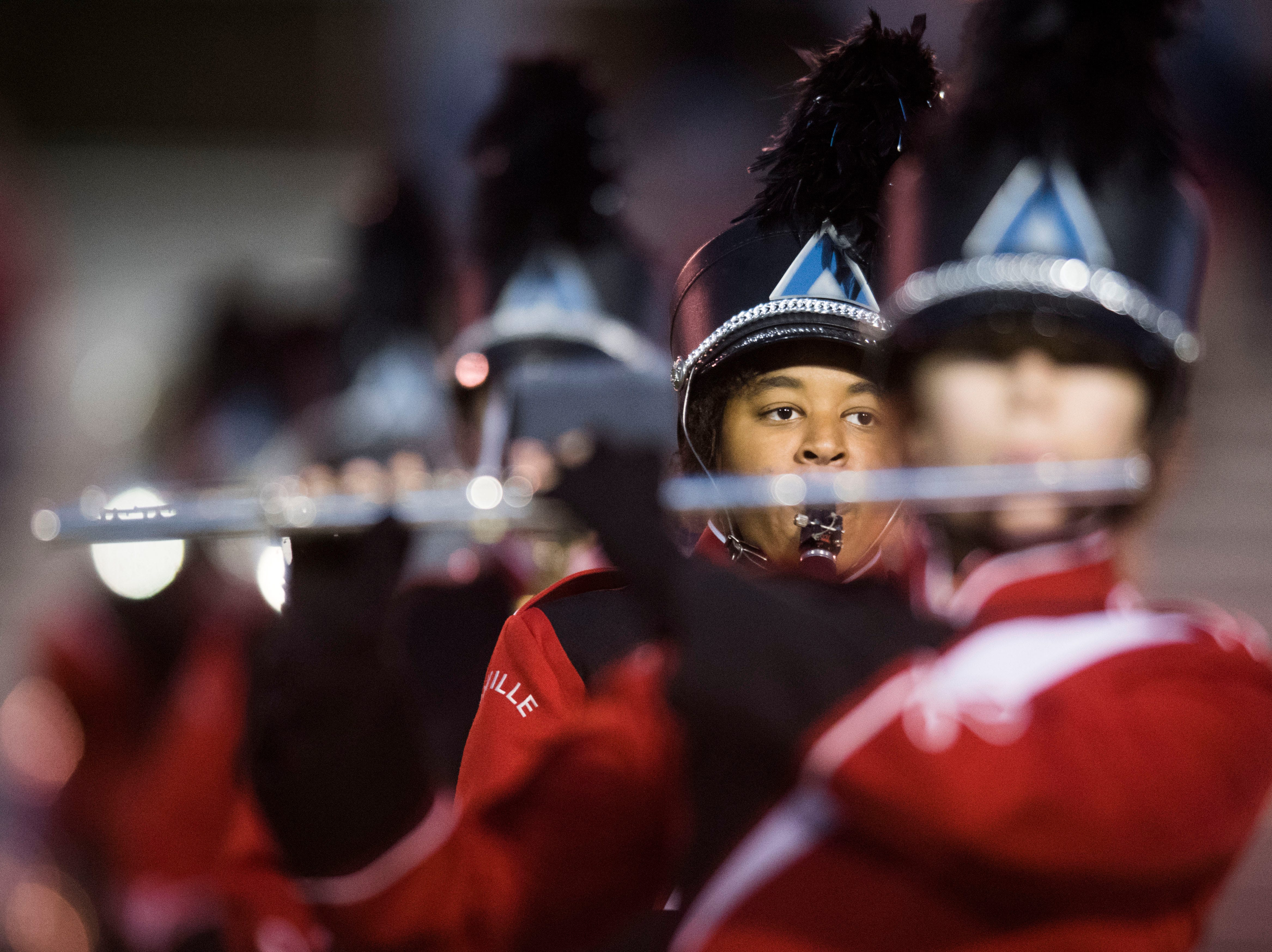 Maryville's band performs during a first round playoff game between Maryville and Bearden at Maryville, Friday, Nov. 2, 2018. Maryville defeated Bearden 28-7.