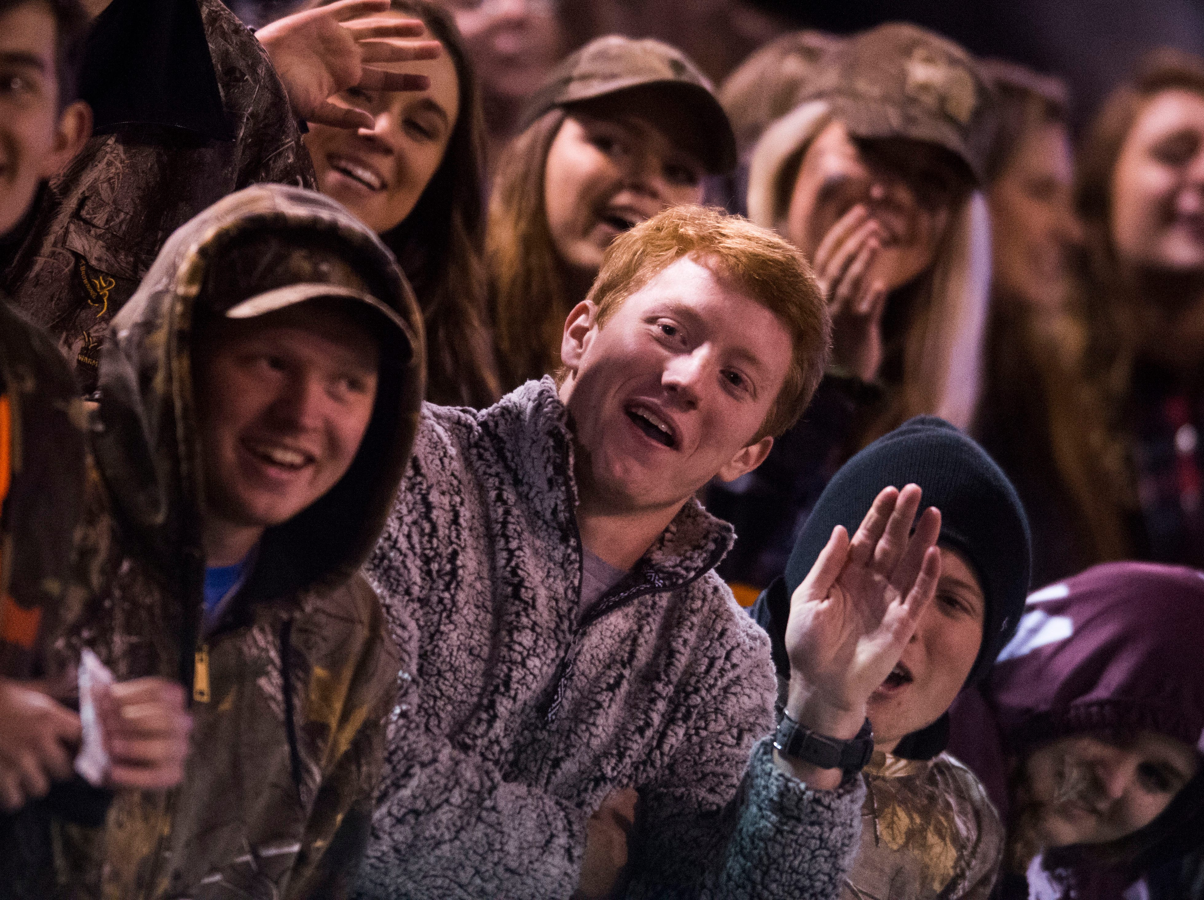 Bearden fans yell in the stands during a first round playoff game between Maryville and Bearden at Maryville, Friday, Nov. 2, 2018. Maryville defeated Bearden 28-7.