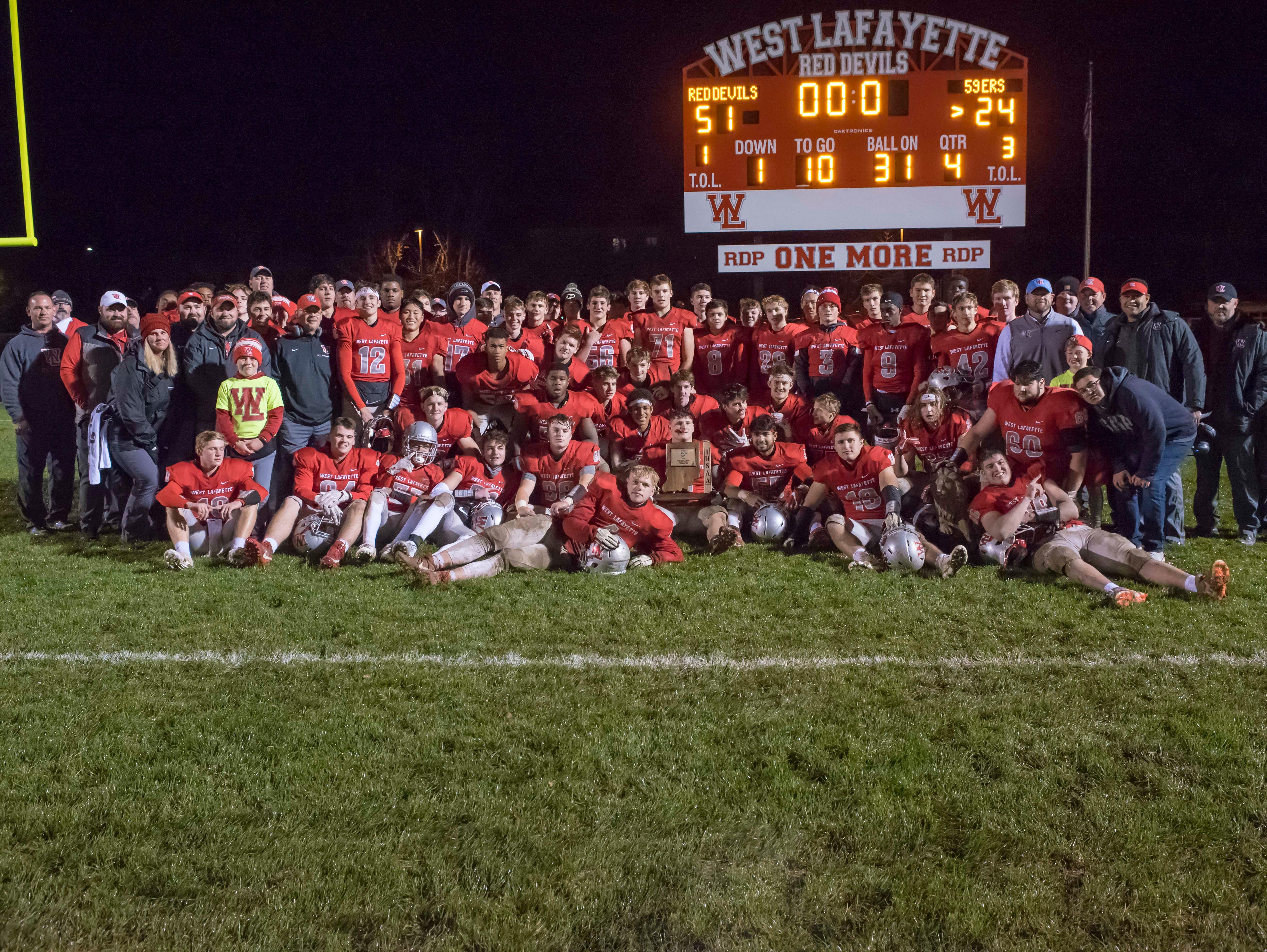 West Lafayette celebrates its sectional championship.