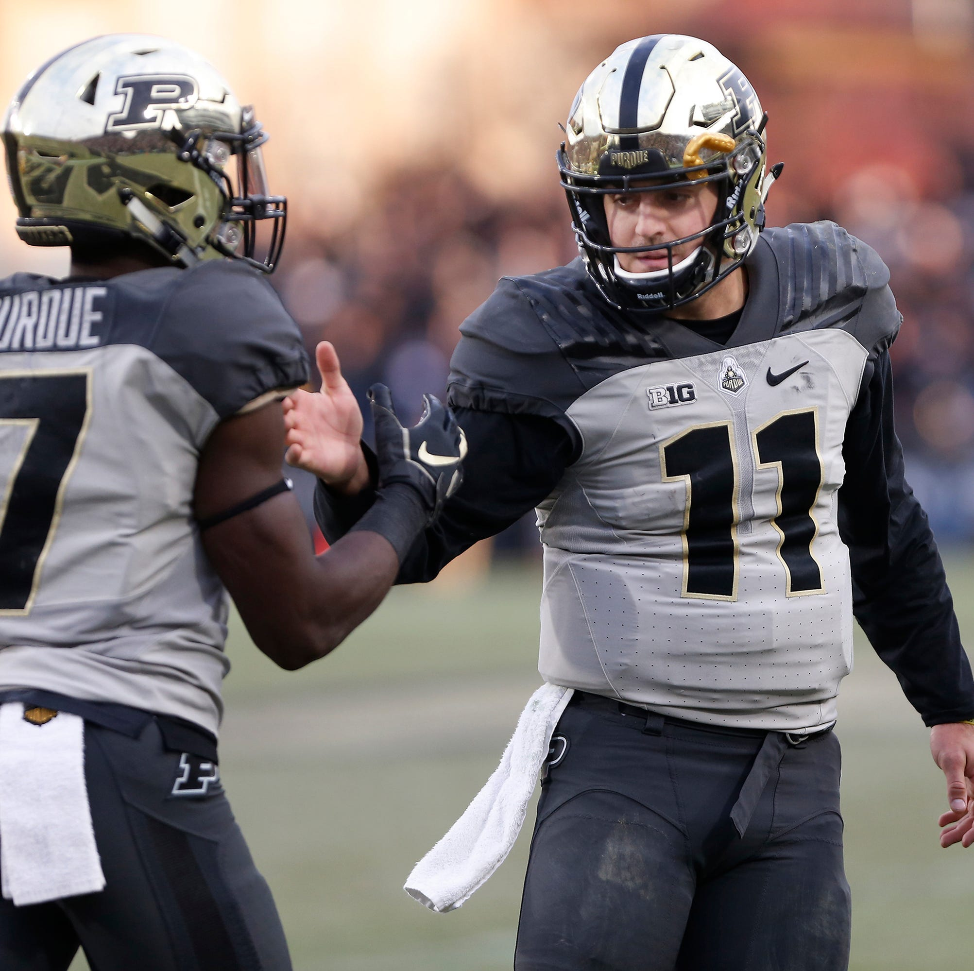 Blough, Purdue football embrace pressure of Saturday's game against Indiana