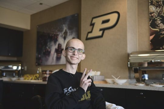 Tyler Trent at the Purdue football game on Nov. 3, 2018.