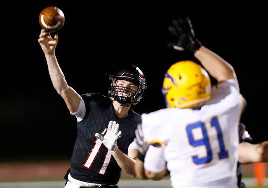 Lafayette Jeff quarterback Maximus Grimes threw 49 touchdown passes as a sophomore last season.
