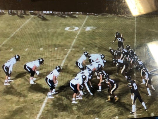 This is a film clip of the play that eventually got Teurlings Catholic coach Dane Charpentier ejected from Friday's 41-34 overtime loss to Carencro.
