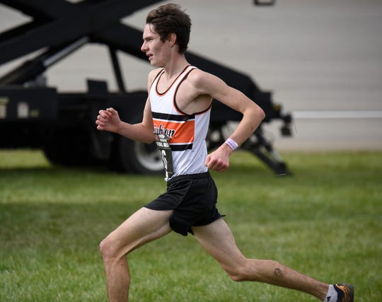 Brighton's Zach Stewart finished fourth in the state Division 1 cross country meet in 15:36.5 on Saturday, Nov. 3, 2018.
