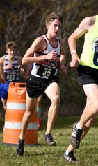 Brighton's Jack Spamer placed 18th in 15:57.0 in the state Division 1 cross country meet on Saturday, Nov. 3, 2018.