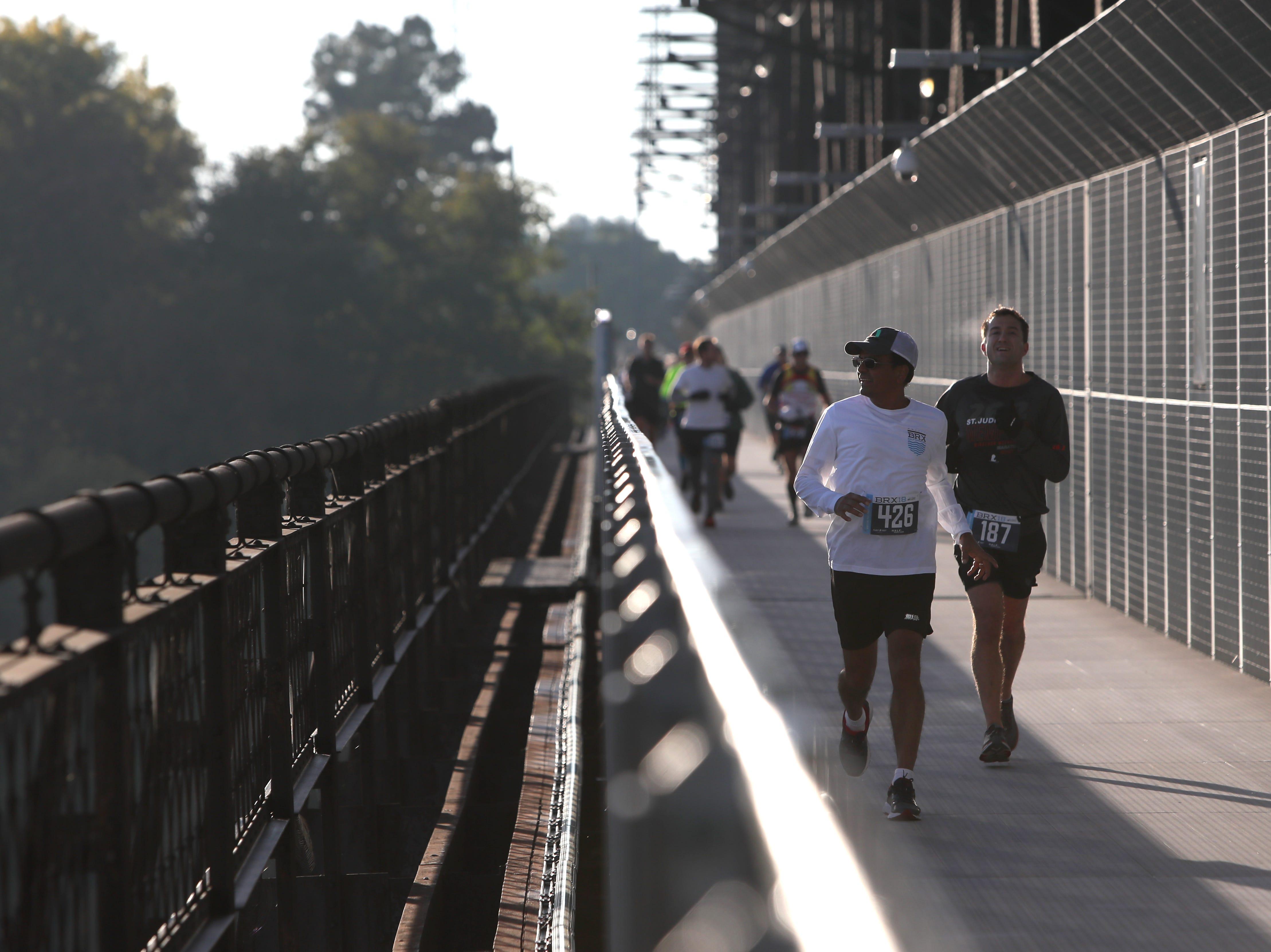 The Big River Crossing Half-Marathon and 5K run downtown Memphis Saturday, November 3, 2018.