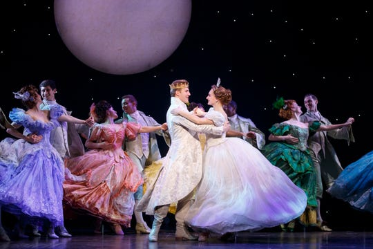 "Cinderella and her prince share a dance in ""Rodgers & Hammerstein's Cinderella,"" on stage this weekend at Miller High Life Theatre."