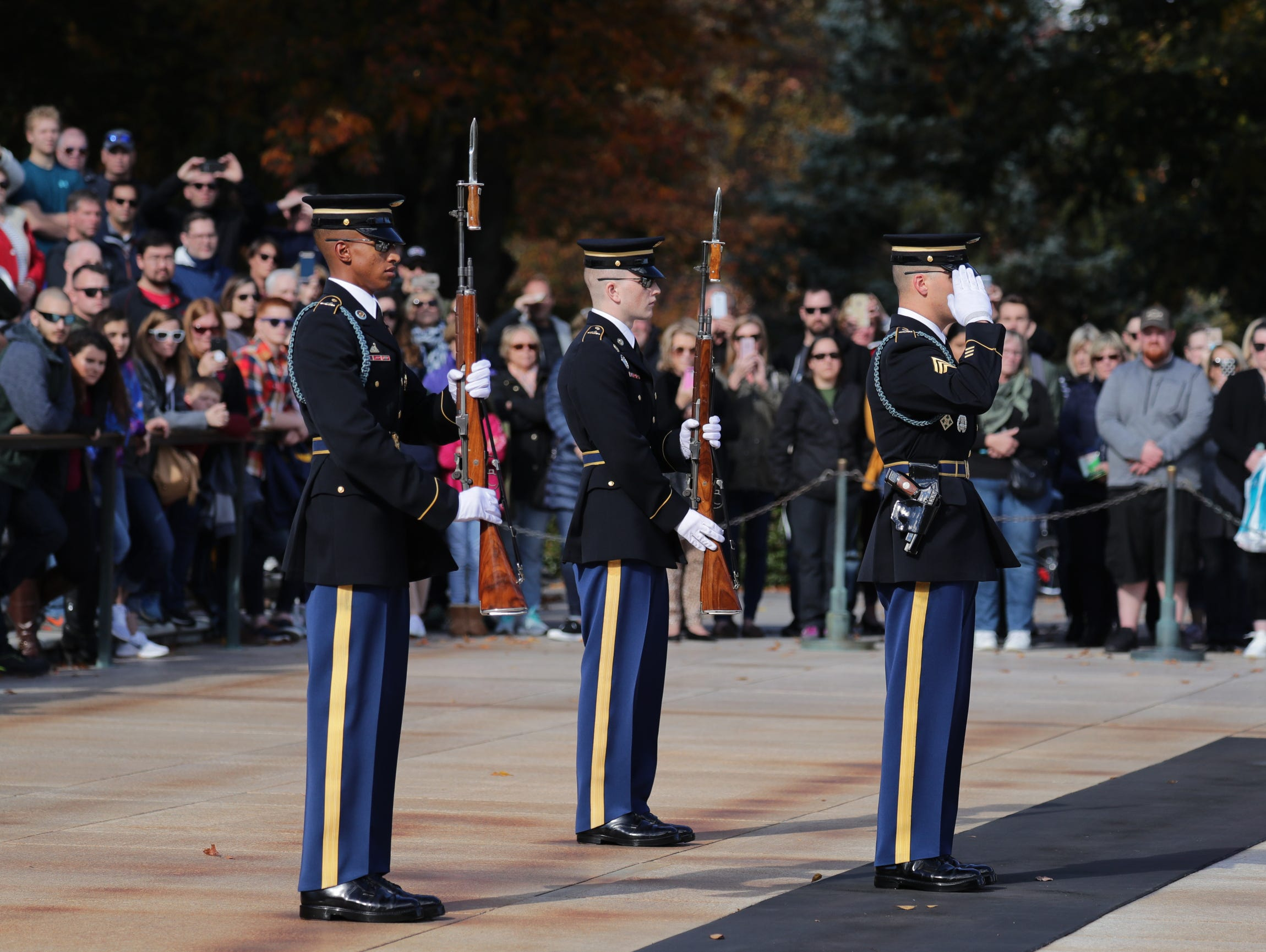 The veterans got to see the changing of the guard at Arlington Cemetery.
