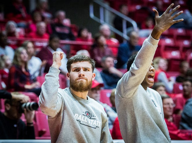 Ball State's Tayler Persons on the sidelines during their game against UIndy at Worthen Arena Friday, Nov. 2, 2018.