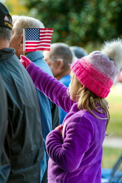 Flag Waving Child