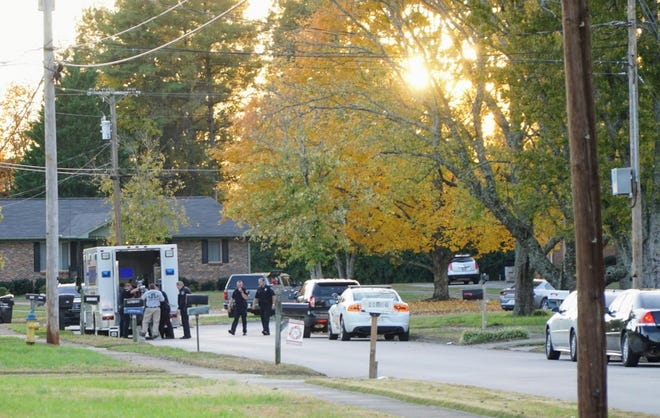 Police were on the scene Saturday of a Farragut murder-suicide in the Village Green subdivision, in the 11000 block of South Williamsburg Drive. They have said it appears the adult son shot and killed his elderly mother.