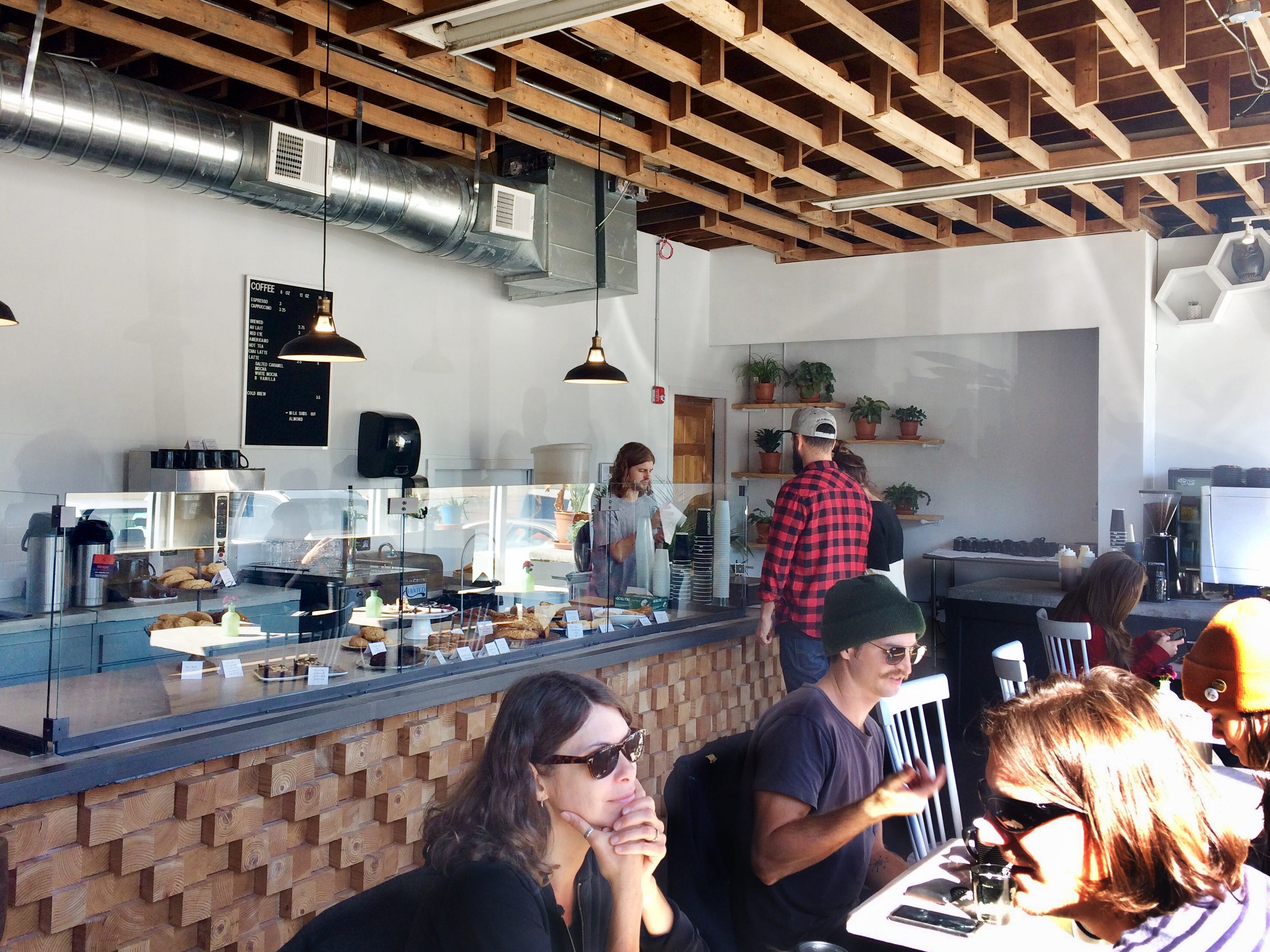 The interior of Slow Hand Coffee + Bakeshop in East Nashville.