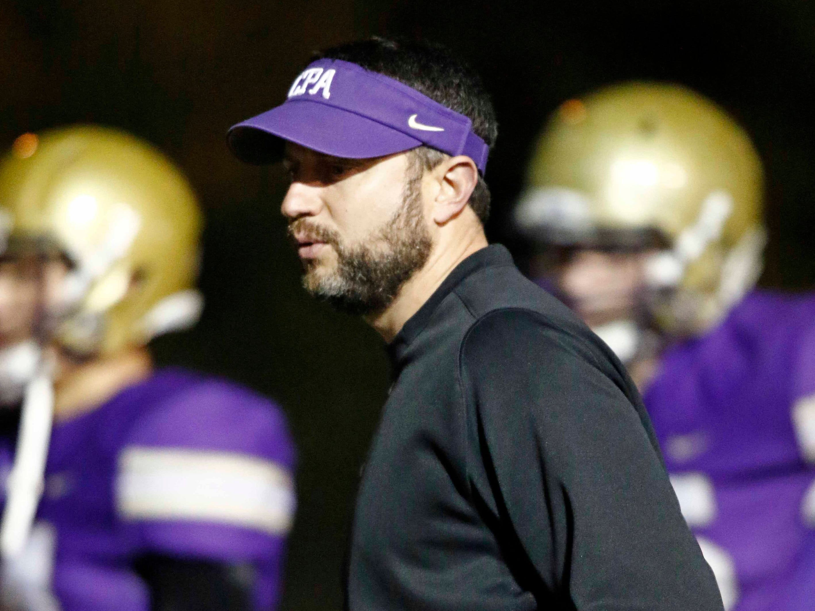 CPA head coach Ingle Martin is seen before their game against USJ Friday, Nov. 2, 2018, in Nashville, TN.