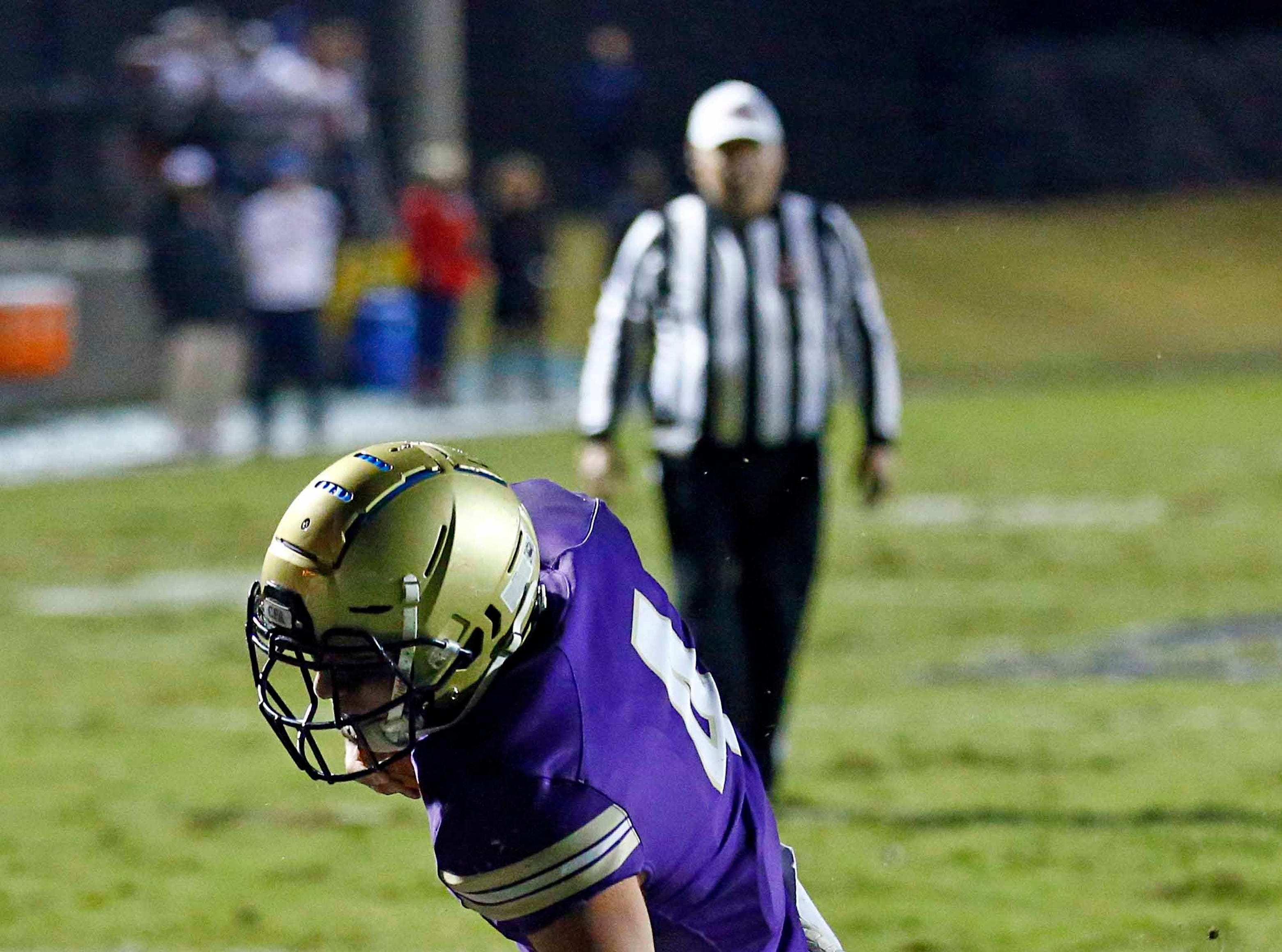 CPA's Kane Patterson scores as he's hit by USJ's Cater Craig during their game Friday, Nov. 2, 2018, in Nashville, Tenn.