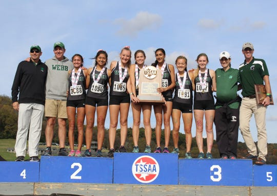 Knoxville Webb won its seventh straight Division II-A girls cross country state championship.
