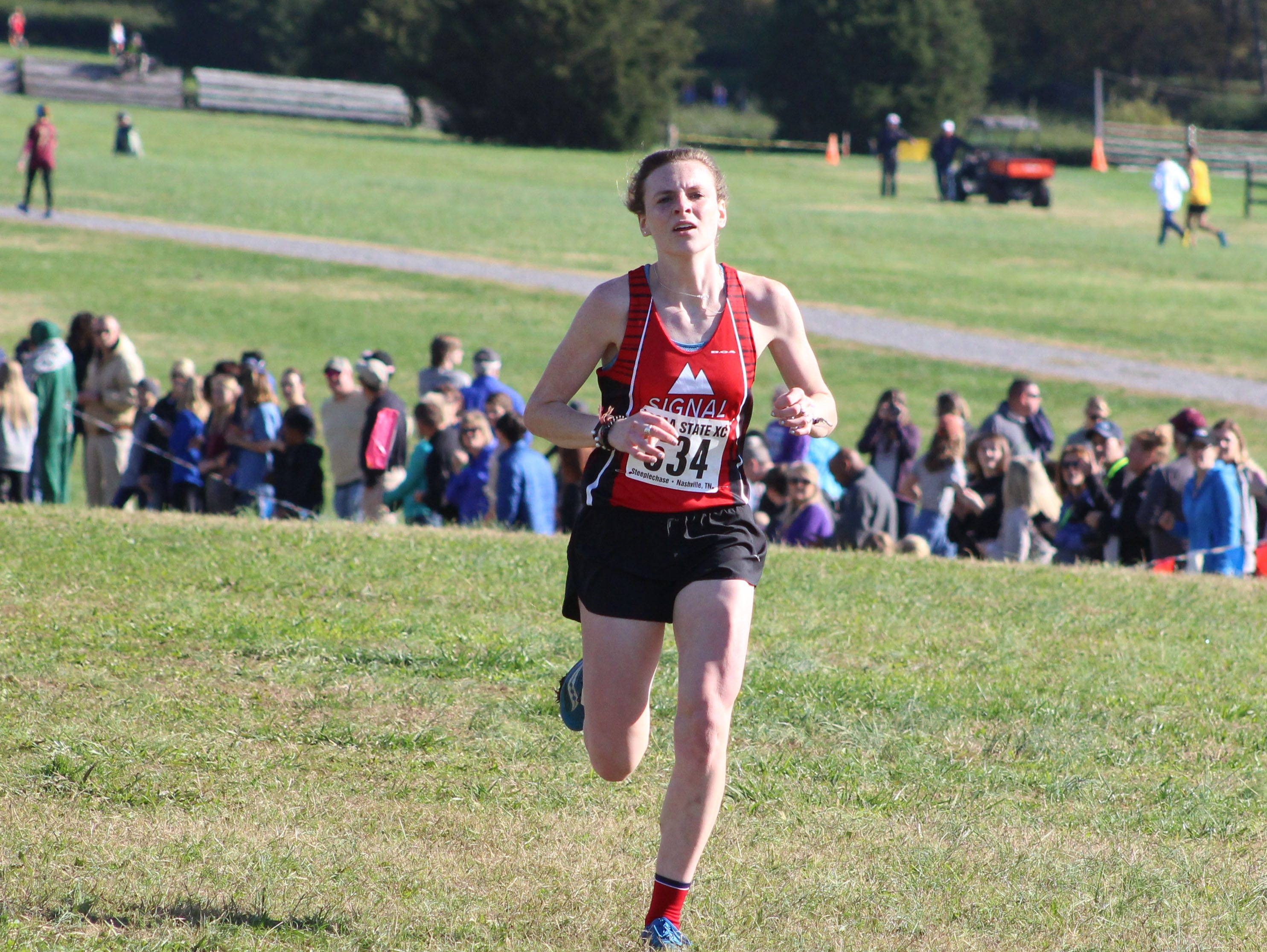 Signal Mountain's Mattie Parker finished second in the TSSAA Small School girls cross country championship on Saturday at Percy Warner Park with a time of 19:53.66.