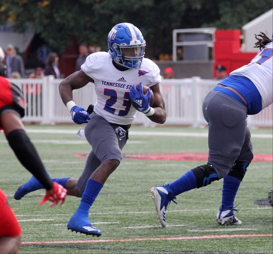 Tennessee State's Te'kendrick Roberson rushed for a career-high 137 yards in the Tigers loss to Southeast Missouri Saturday.