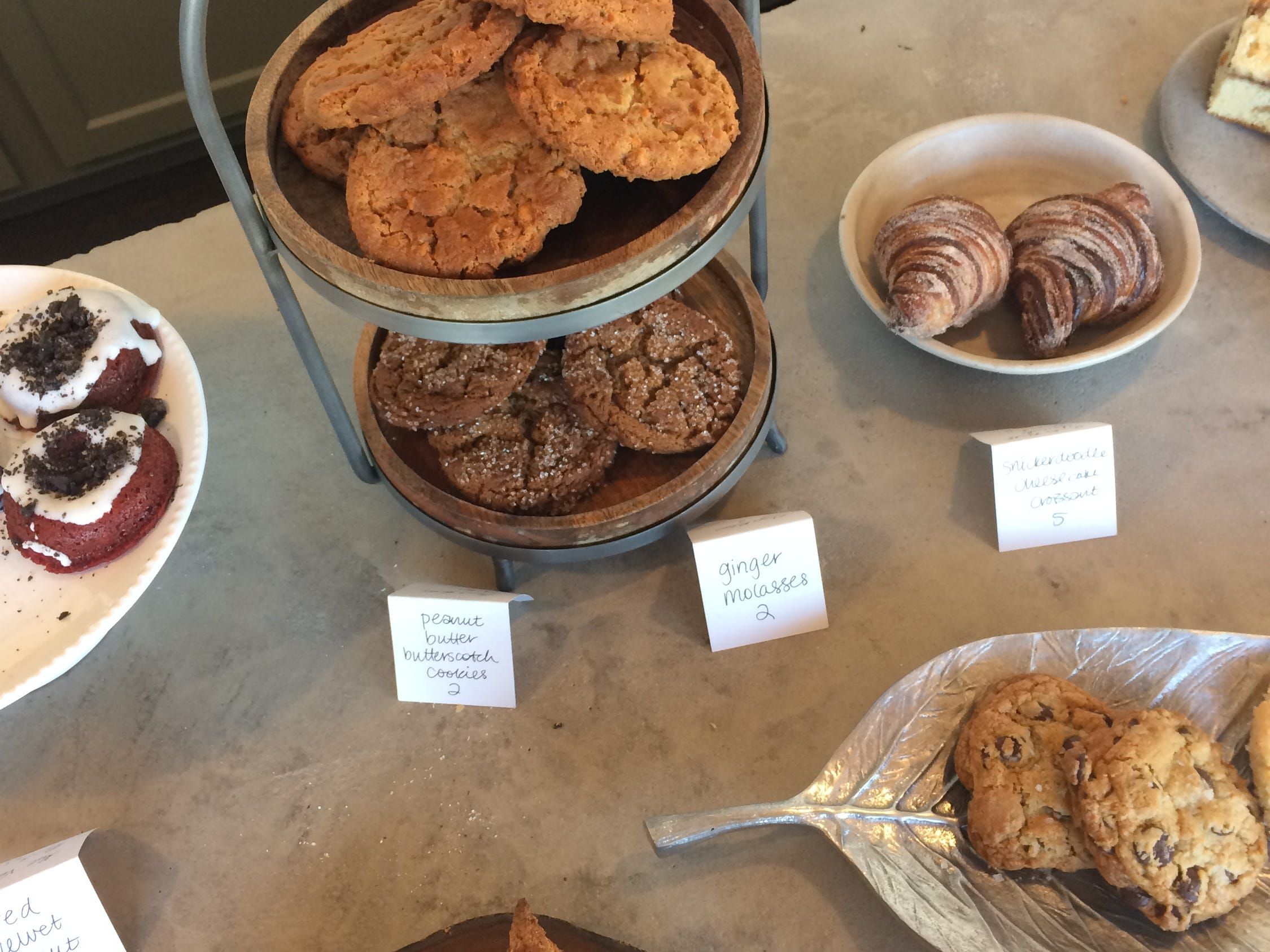 A selection of baked goods at Slow Hand Coffee + Bakeshop in East Nashville.