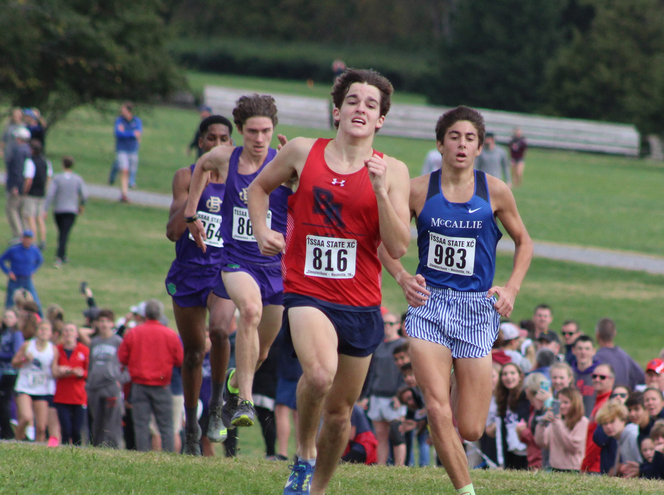 Brentwood Academy's Eddie Lunn finished seventh in the TSSAA Division II-AA boys cross country state championship on Saturday at Percy Warner Park.