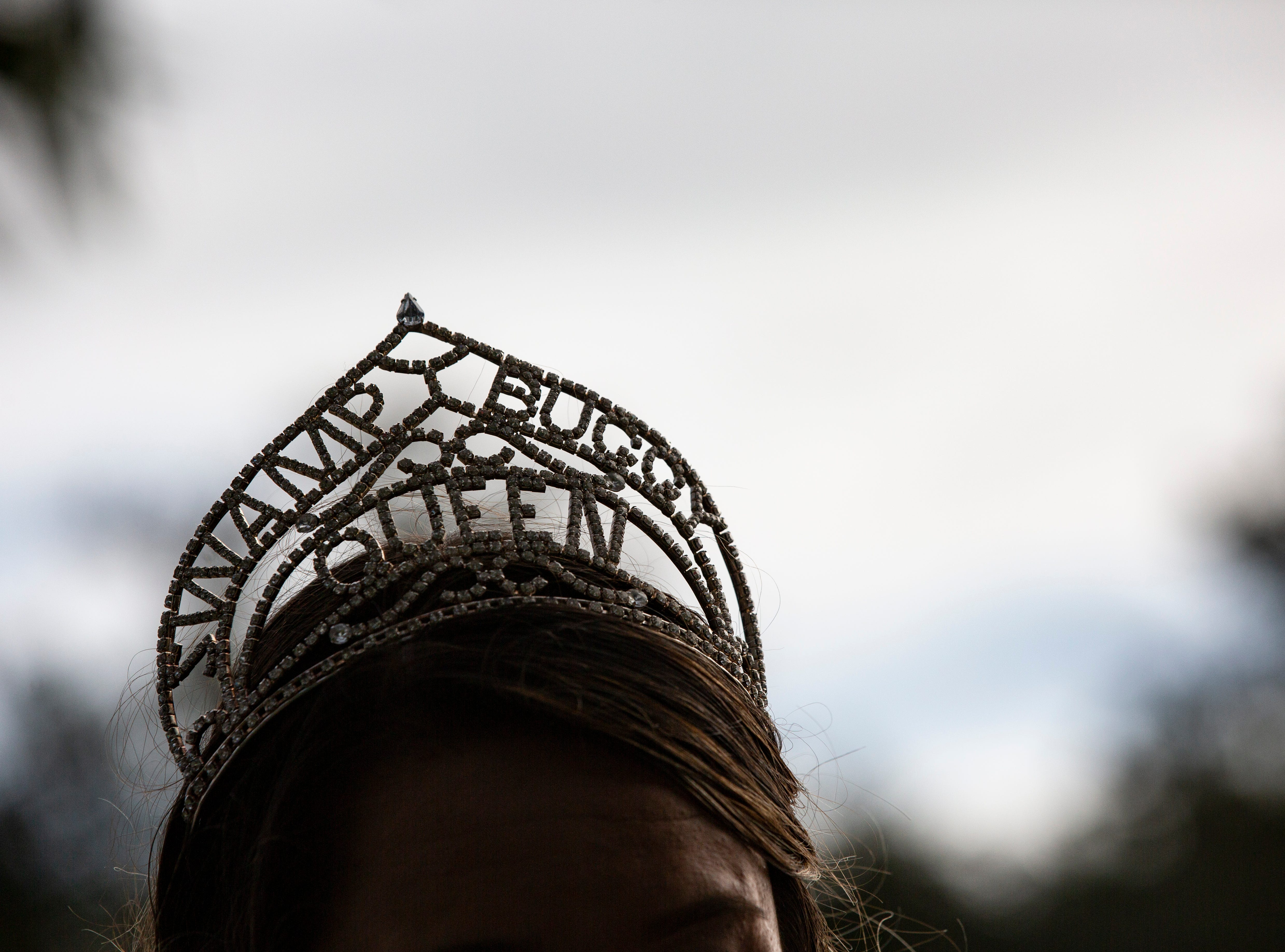 The 70th annual Swamp Buggy Parade on Saturday morning, Nov. 3, 2018, featured past Swamp Buggy Queens. The first queen was crowned in 1950.