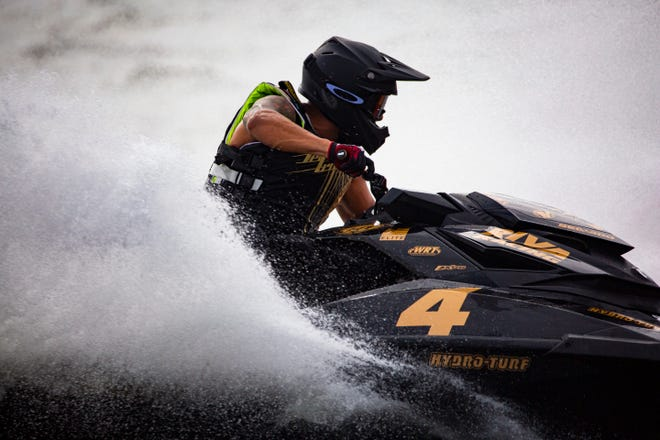 Erminio Iantosca of Naples wins the first pro-Am Runabout GP race on Nov.3, 2018, at the Pro Watercross World Championship after months of workout and anticipation.