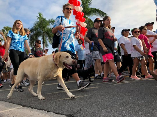 At the 25th Collier County Heart Walk, some participants opted to bring their four-legged friends along for the trip on Saturday, Nov. 3, 2018.