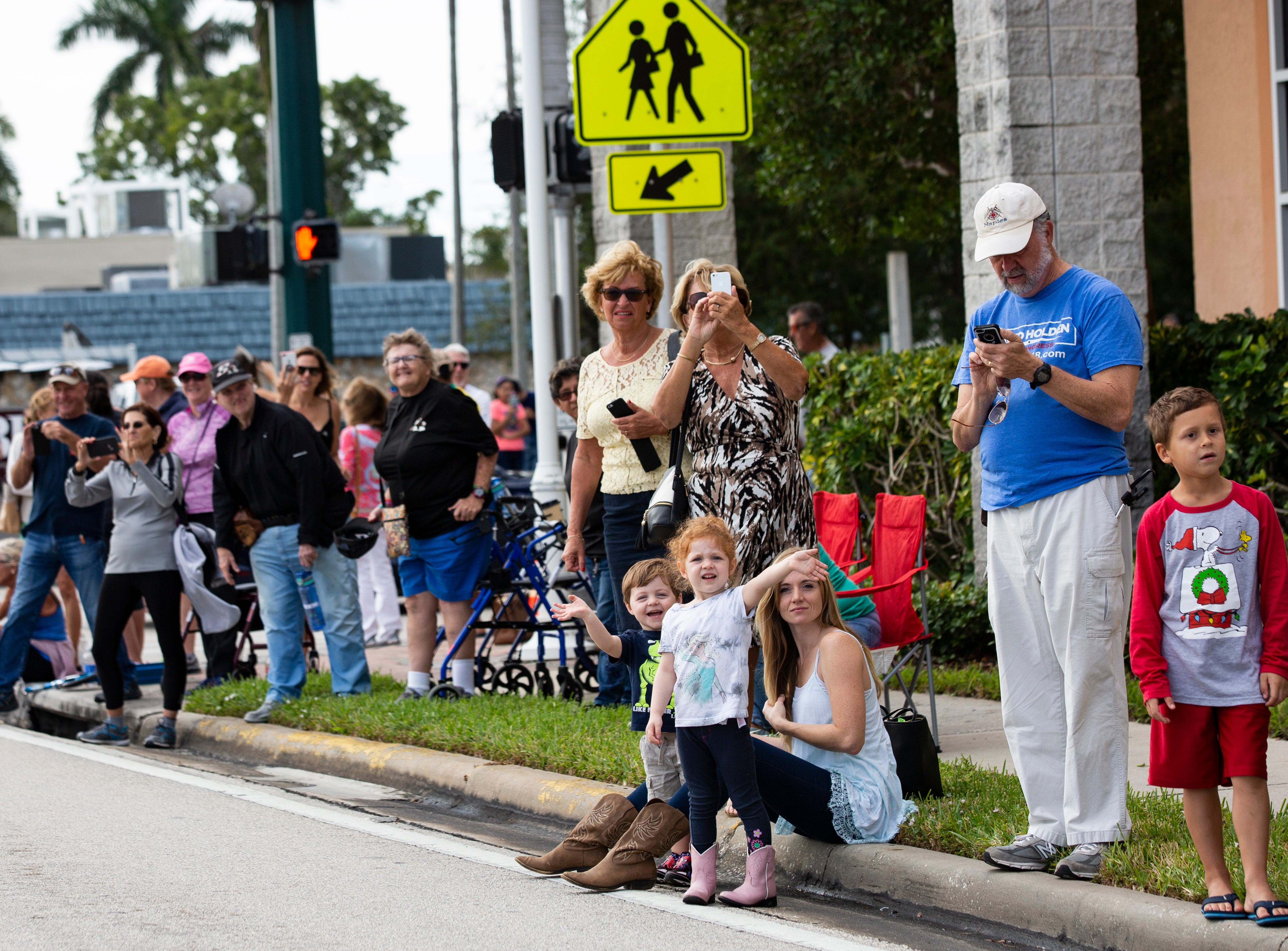 The 70th annual Swamp Buggy Parade hits downtown Naples on Saturday morning, Nov. 3, 2018. The parade featured past Swamp Buggy Queens, Naples High School marching band, racing buggies and Swampy - the race mascot, among other things.