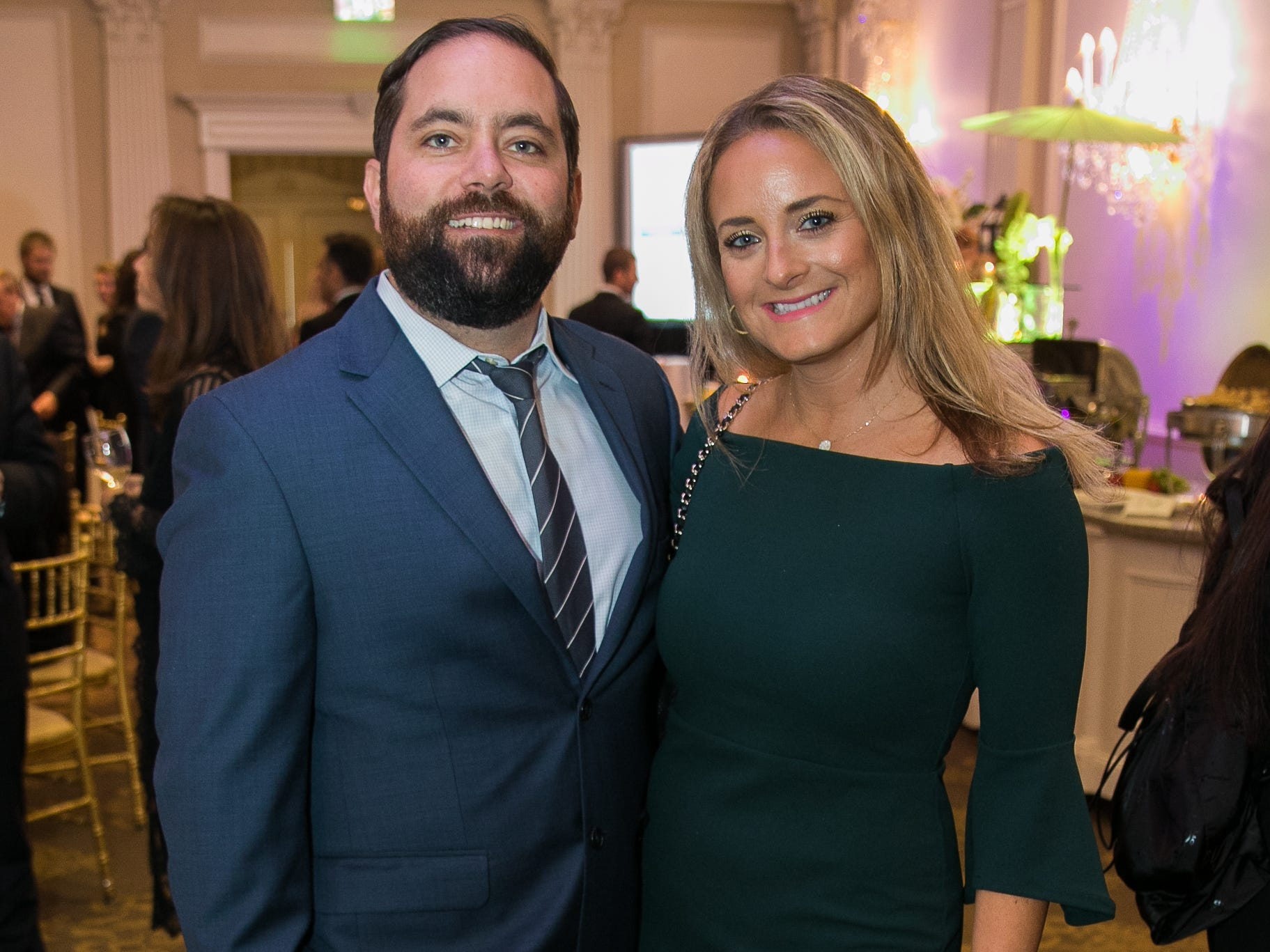 Gavin Daly, Jenna Jacobs. Bergen Family Center celebrated 120 years of service with dinner and a silent auction at Th e Rockleigh Country Club.11/1/2018