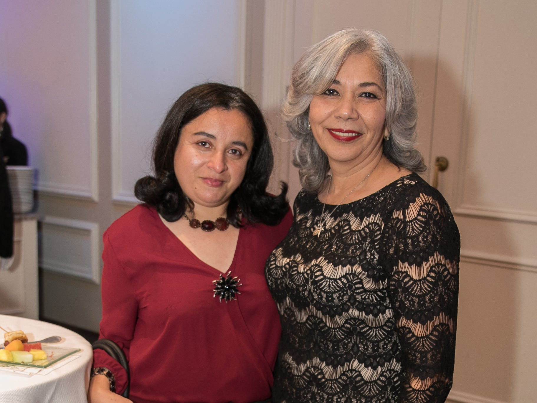 Jessie Figueroa, Edna Salcedo. Bergen Family Center celebrated 120 years of service with dinner and a silent auction at Th e Rockleigh Country Club.11/1/2018