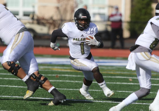 David Stevens of Paramus Catholic runs the ball in the second half.