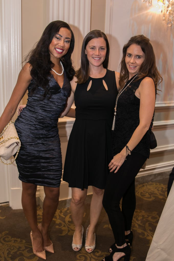Dr. Nicole Bell, Tami Pantiliano, Jennifer Nicholas. Bergen Family Center celebrated 120 years of service with dinner and a silent auction at Th e Rockleigh Country Club.11/1/2018